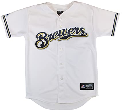 024c05f1572 Image Unavailable. Image not available for. Color  MLB Milwaukee Brewers  Replica Jersey ...