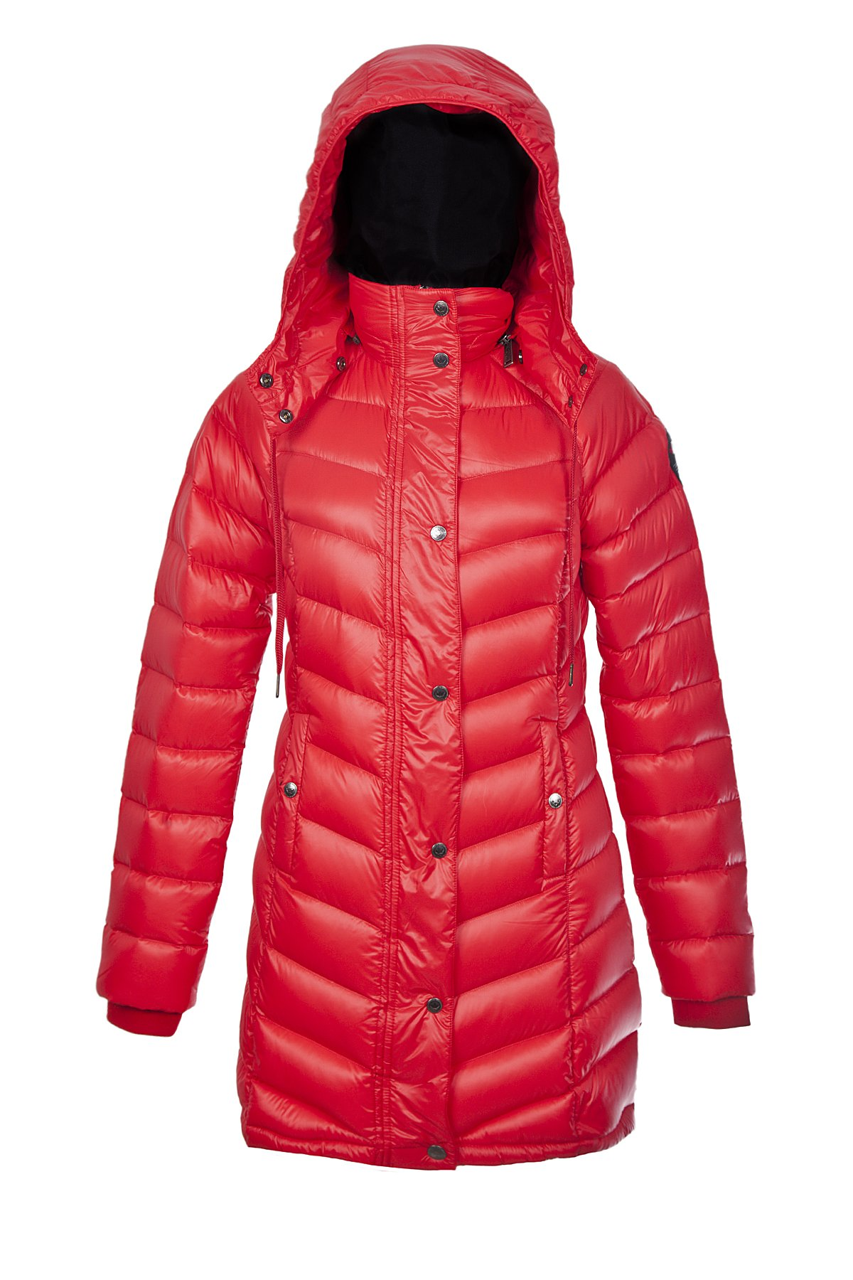 Pajar Women's Callie Long Packable Down Parka (Medium, Ribbon Red) (S)