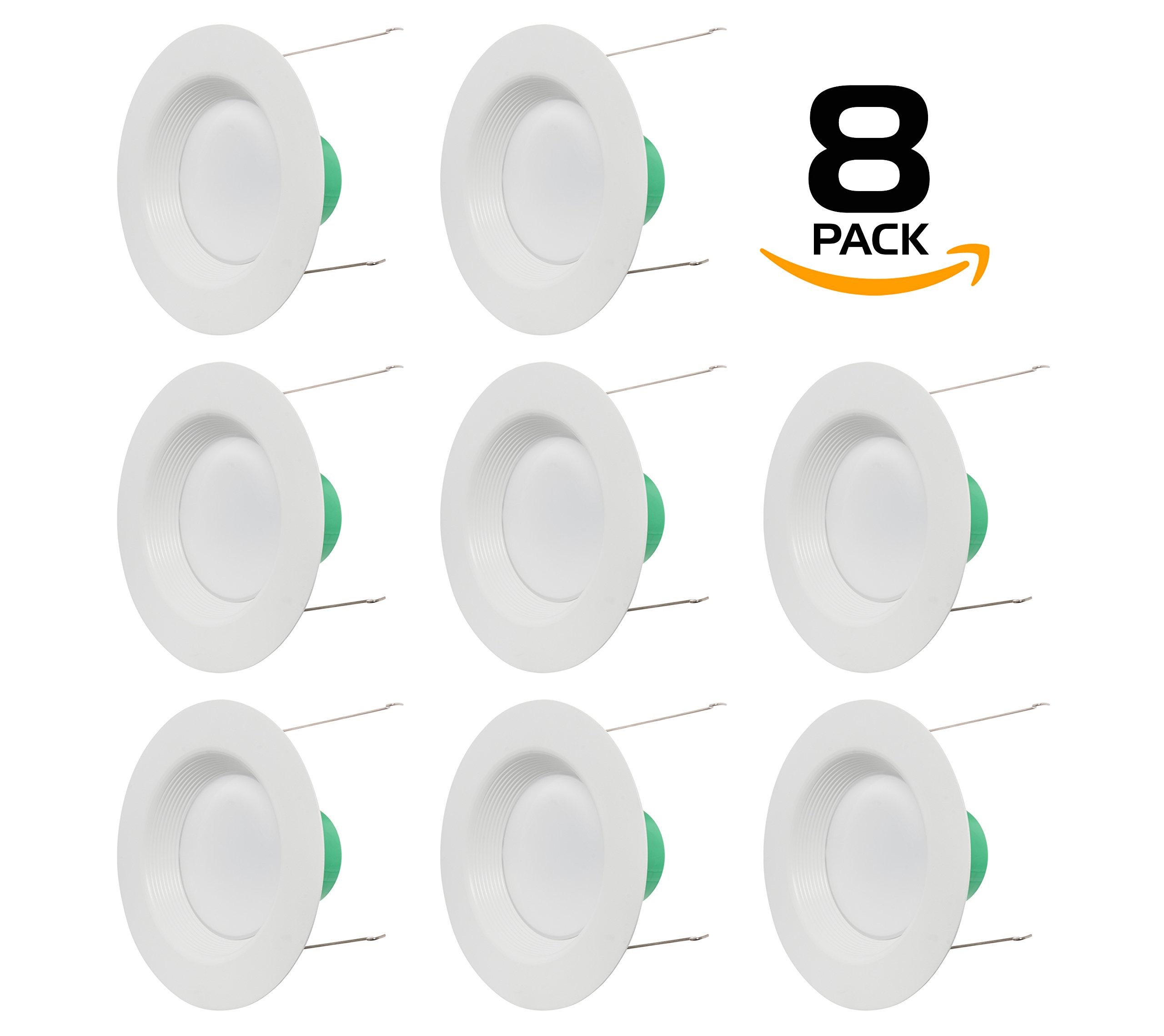 Westgate Lighting 18W 6 Inch LED Retrofit Downlight With Integrated Baffle Trim - Dimmable LED Recessed Light Fixture Kit For Home, Kitchen,Office - 120V High Lumen (8 Pack, 2700k Warm White)
