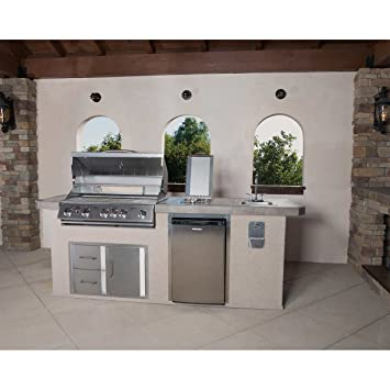 outdoor kitchen burner coyote urban islands 5burner outdoor kitchen island delivery in 34 weeks amazoncom