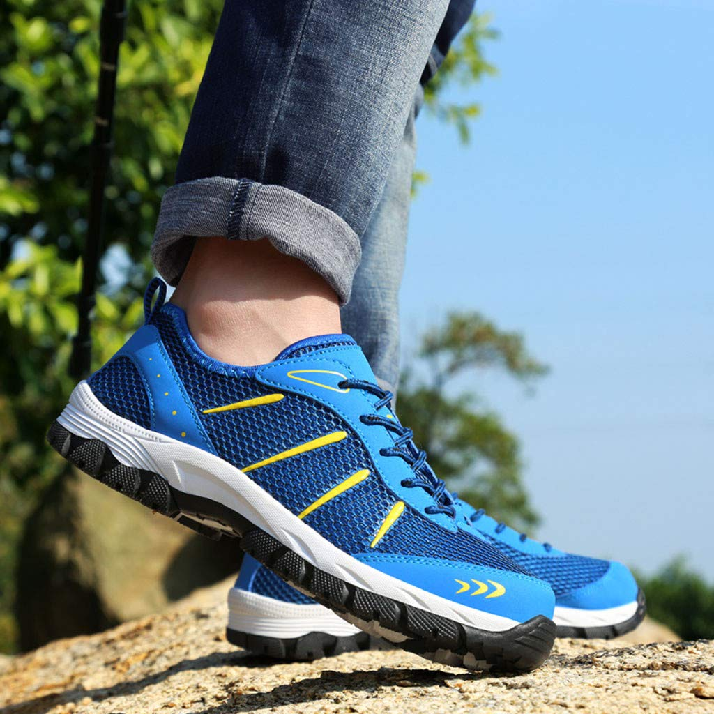 Mysky Fashion Men Popular Casual Mesh Breathable Outdoor Non-Slip Comfortable Walking Shoes Sports Hiking Shoes Blue by Mysky (Image #6)