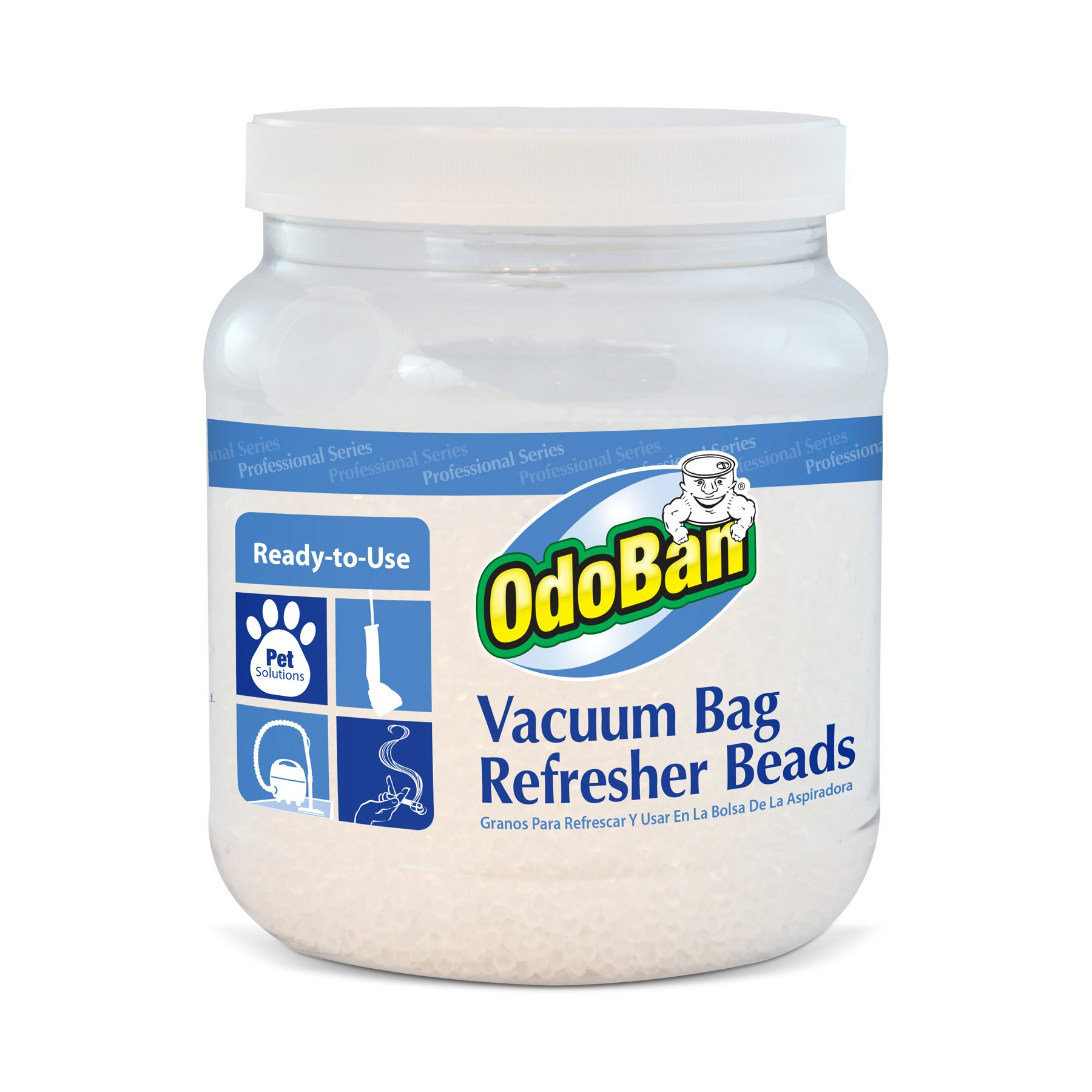 OdoBan 9745A62-24Z Vacuum Bag Refresher Beads, Fresh Scent, 24 oz.