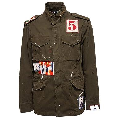Bob 2354X Giubbotto Uomo Green Painting Vintage Jacket Man