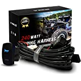 wowled waterproof laser horn rocker switch led illuminated backlit + relay  wiring harness kit for jeep