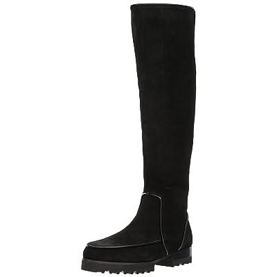 Donald J Pliner Women's EVA Fashion Boot, Black Brushed Suede, 6 M US | Knee-High