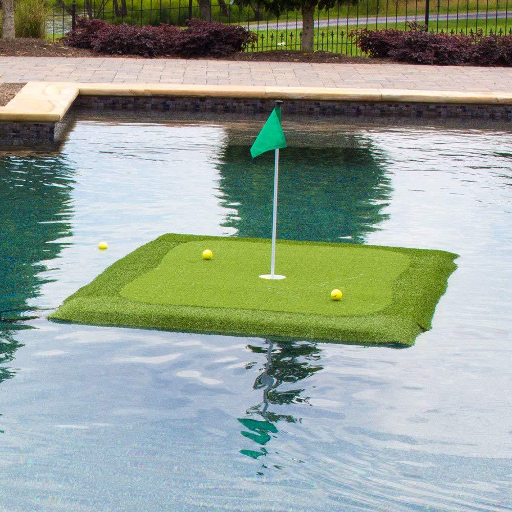 フローティングゴルフグリーンforプール、池、with chippingマット、複数のサイズAvailable 4' x 6'  B06XTHDX11