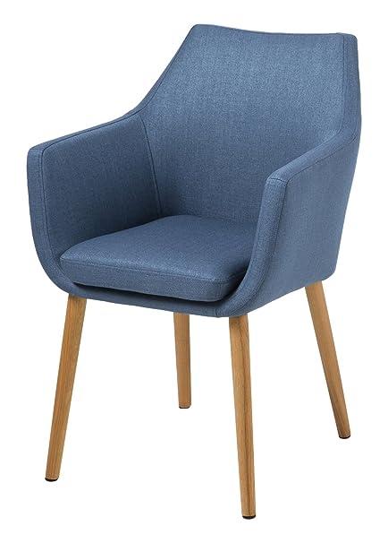 AC Design Furniture 59329 sillón Trine, 58 x 84 cm, Funda de Asiento/Respaldo de Tela Corsica Colour Azul Oscuro