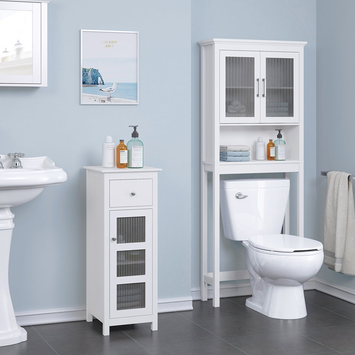 Amazon.com: Spirich Home Bathroom Shelf Over The Toilet, Bathroom ...