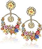 YouBella Jewellery Gold Plated Flower Shape Resin Fancy Party Wear Earrings for Women and Girls