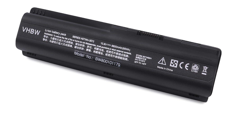 vhbw Li-Ion batería 8800mAh (10.8V) Negro para Notebook HP Pavilion dv6-1115es, dv6-1115et, dv6-1115ez, dv6-1115tx, dv6-1116el, dv6-1116tx: Amazon.es: ...