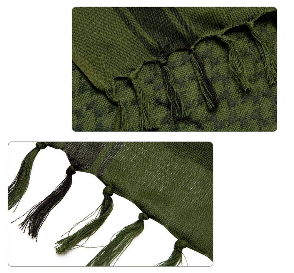 Shemagh Tactical Scarf 8 in 1 Large Thick Military Desert Keffiyeh Head Neck Arabe Scarf by Wildoor (Image #4)