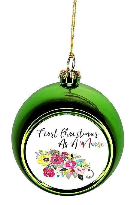 Jacks Outlet Ornament Nurse First Christmas as a Nurse Ornaments Green  Bauble Christmas Ornament Balls - Amazon.com: Jacks Outlet Ornament Nurse First Christmas As A Nurse