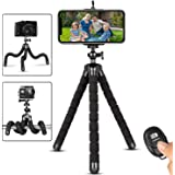 Phone Tripod,Portable and Flexible Adjustable Cell Phone Stand Holder with Remote and Universal Clip Compatible with iPhone A