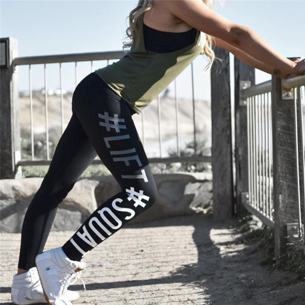 Amlaiworld Moda Donna Leggings Fitness Sport Running Yoga Athletic Pants