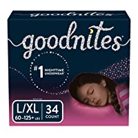 Goodnites Bedwetting Underwear for Girls, L/XL, 34 Ct