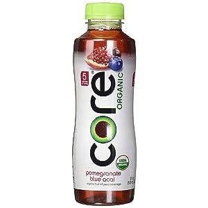 Core Organic Fruit Infused Beverage, 16.9 Fl Oz, Pomegranate Blueberry Acai (Pack of 36)