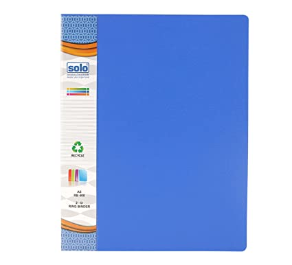 solo rb 408 binder 2 d ring folder cover blue amazon in office