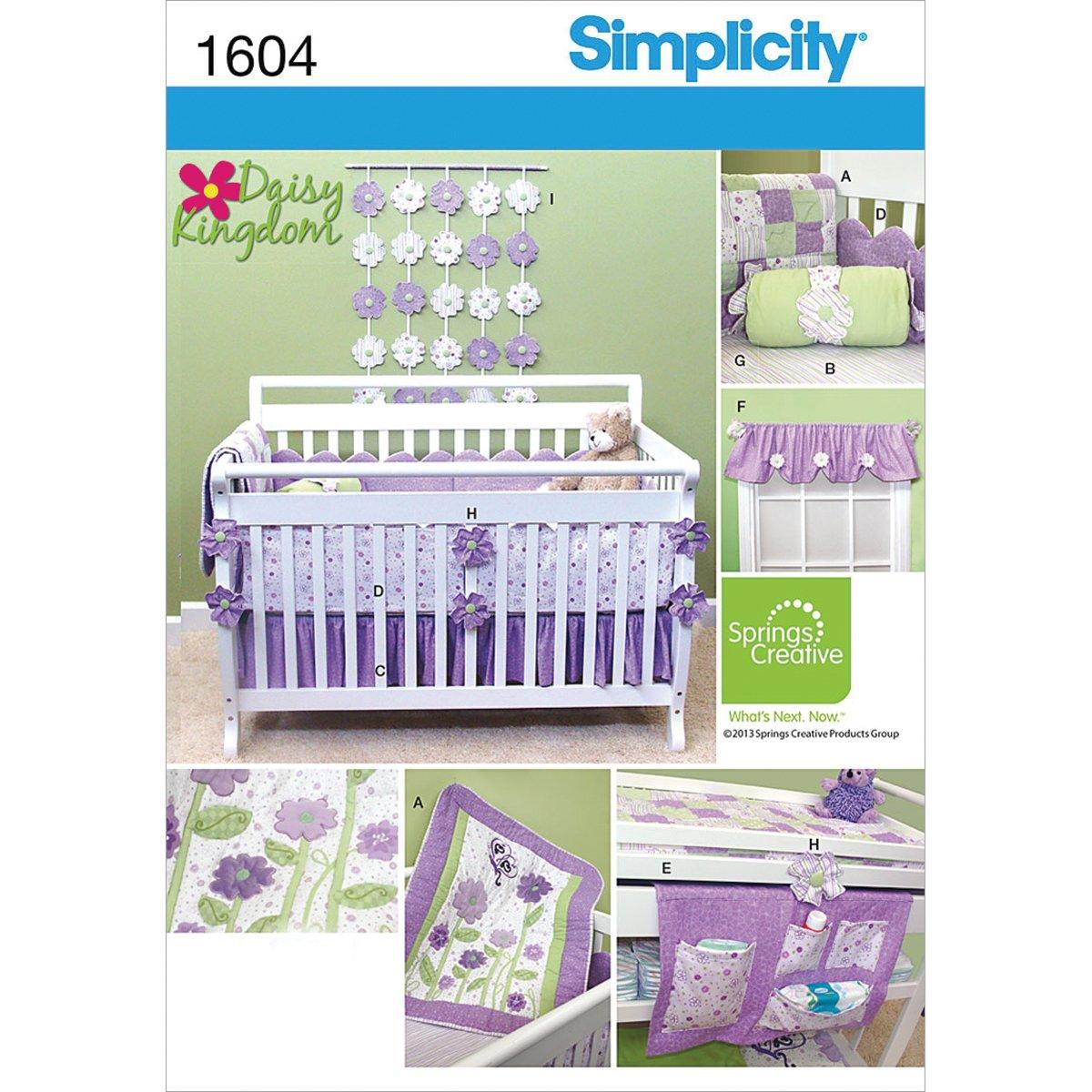 Simplicity Creative Patterns 1604 Daisy Kingdom Nursery Accessories