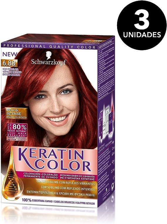 Keratin-Coloración permanente para el cabello, tono 6.1 (pack ...