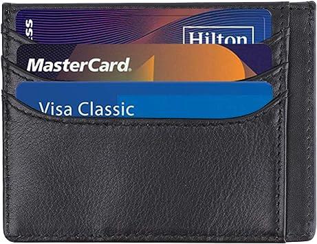 Slim Minimalist Front Pocket RFID Blocking Leather Wallets Card for Men/&Women
