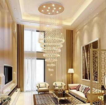 LED K9 Kristall Pendelleuchte Schlafzimmer Wohnzimmer Hängeleuchte Kreativ  Scharfer Kegel Leuchter Beleuchtung ?40*H80CM