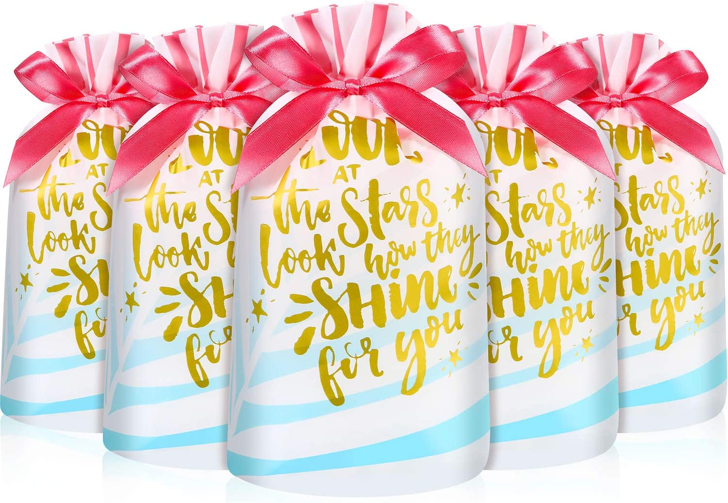 Cute Drawstring Christmas Gift Bags Party Candy Bags Cookie Wrapping Pouches