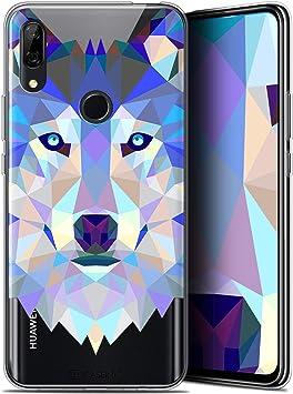 Caseink Coque pour Huawei P Smart Z (6.6) [Gel HD Polygon Series Animal - Souple - Ultra Fin ] Loup