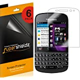 [6-Pack] Supershieldz- High Definition Clear Screen Protector For Blackberry Q10 + Lifetime Replacements [6-PACK] - Retail Packaging