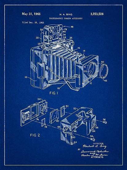 Amazon camera 1966 patent photography blueprint style art camera 1966 patent photography blueprint style art print 12x16 inch malvernweather Gallery