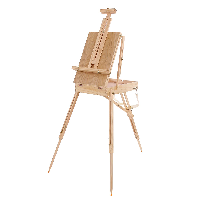 Mendler Kofferstaffelei Feld- Tisch- Atelier- Staffelei transportabel 181 cm