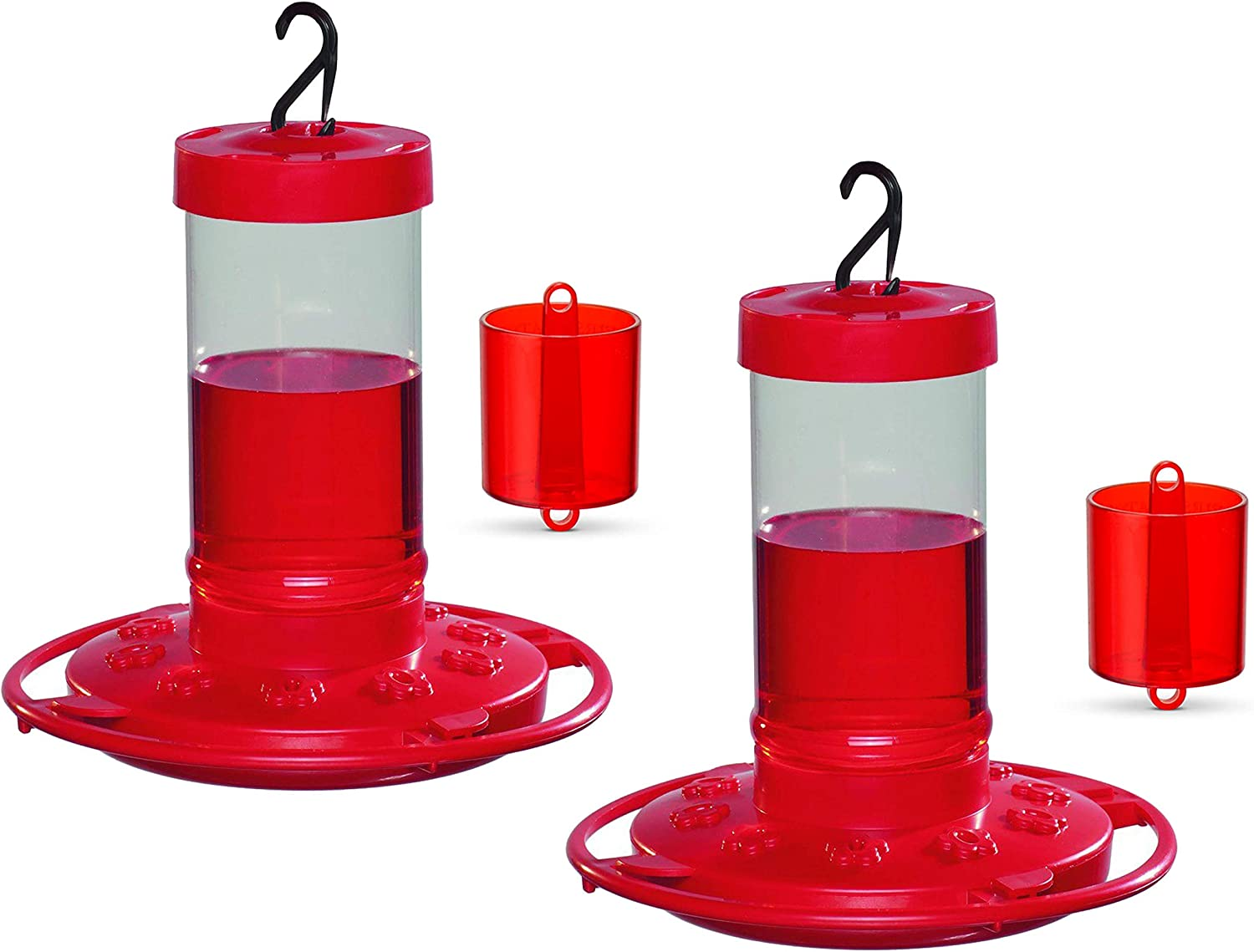 First Nature 3051 Hummingbird Feeder, 16-Ounce - 2 Feeders & 2 Ant Moats