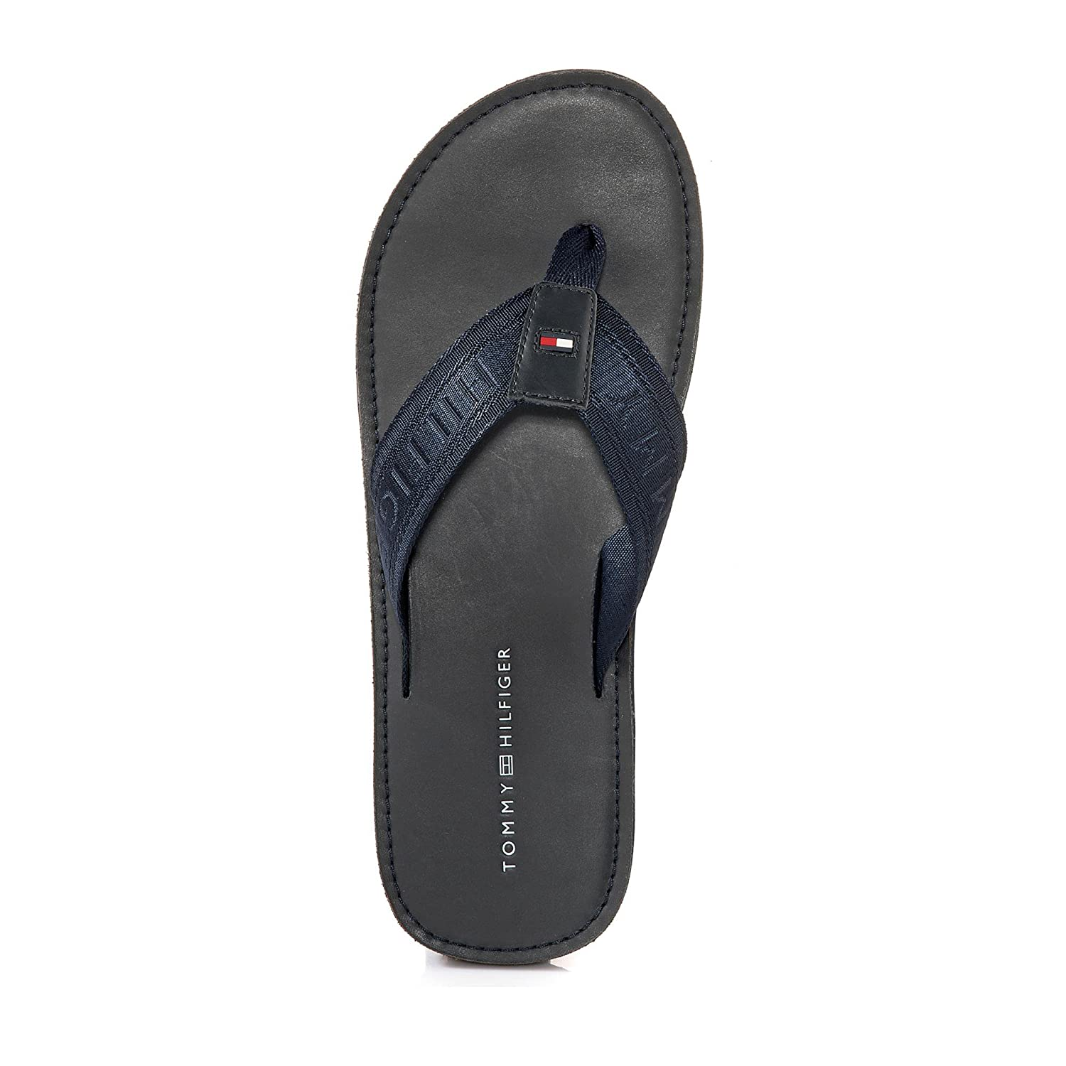 ce63ca2c2011 Tommy Hilfiger Jaquard TH Leather Beach Sandal - Midnight (Navy) Mens  Sandals 41 EU  Amazon.co.uk  Shoes   Bags