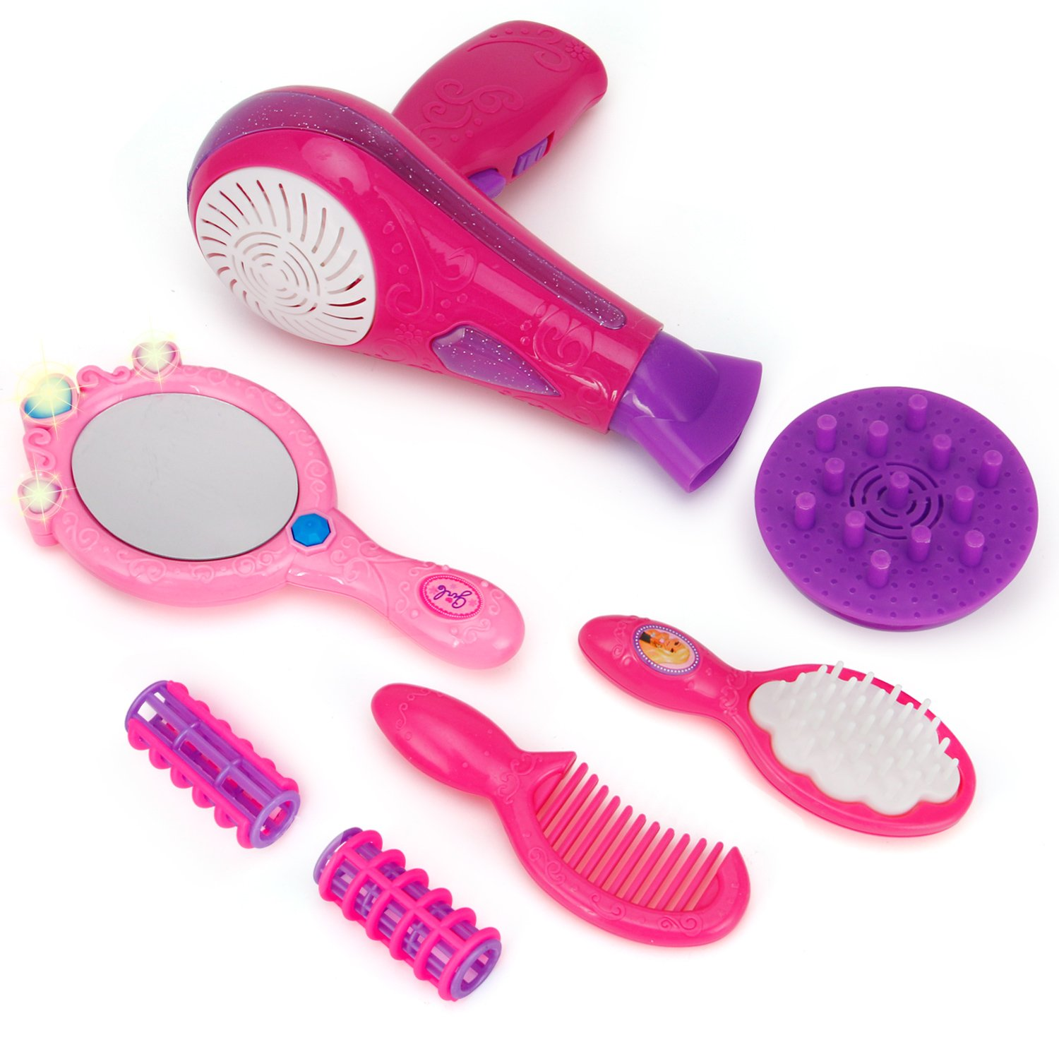 Liberty Imports Vogue Girls Beauty Salon Fashion Play Set with Hairdryer, Mirror & Styling Accessories by Liberty Imports (Image #4)