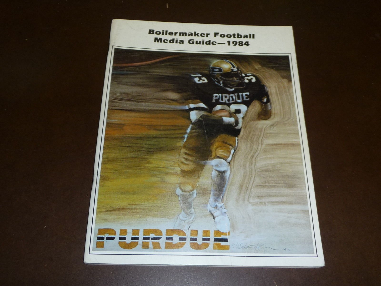 1984 PURDUE COLLEGE FOOTBALL MEDIA GUIDE EX MINT BOX 24