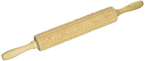 Norpro 3083 Springerle Wooden Rolling Pin
