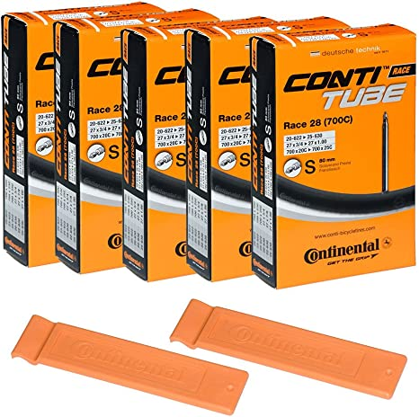 Continental Race 28 LIGHT Bike Inner Tubes 700 X 20-25 Presta Valve 80mm 8 Pack