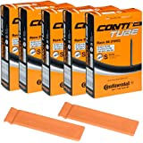 Continental Bicycle Tubes Race 28 700x20-25 S80 Presta Valve 80mm Bike Tube Super Value Bundle (Pack of 5 Conti Tubes & 2 Con