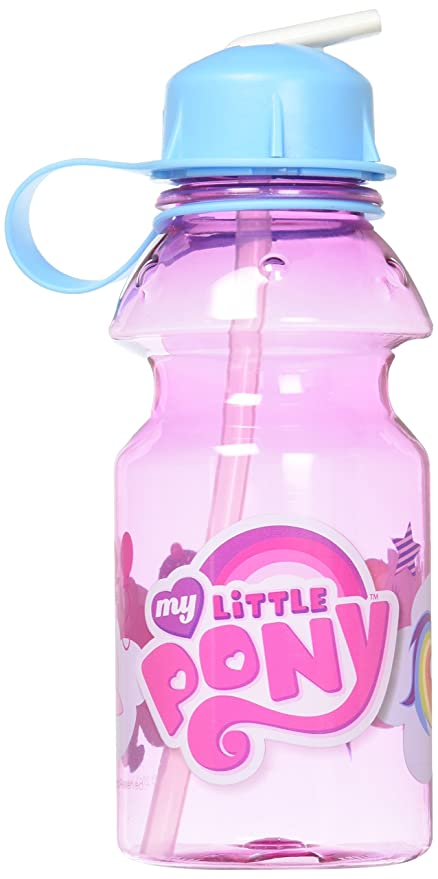 28ffef524a Amazon.com: Zak Designs My Little Pony 14oz Kids Water Bottle with Straw -  BPA Free with Easy Clean Design, My Little Pony: Kitchen & Dining
