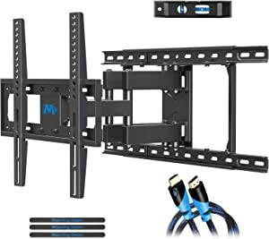 "Mounting Dream TV Mount Full Motion TV Wall Mounts for 26-55 Inch Flat Screen TV, Wall Mount TV Bracket with Dual Arms, Max VESA 400x400mm and 99 LBS, Fits 16"", 18"", 24"" Studs MD2380-24K TV Mounts"