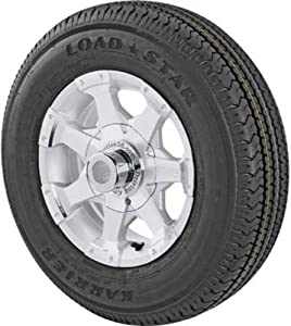 Kenda Loadstar Karrier Aluminum 14in. Radial Trailer Tire and Wheel Assembly - ST205/75R-14, 5-Hole, Load Range C, Model Number DM205R4C5C7S