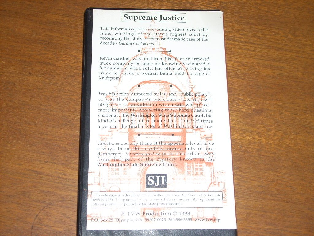 SUPREME JUSTICE The Inner Workings of the Washington State