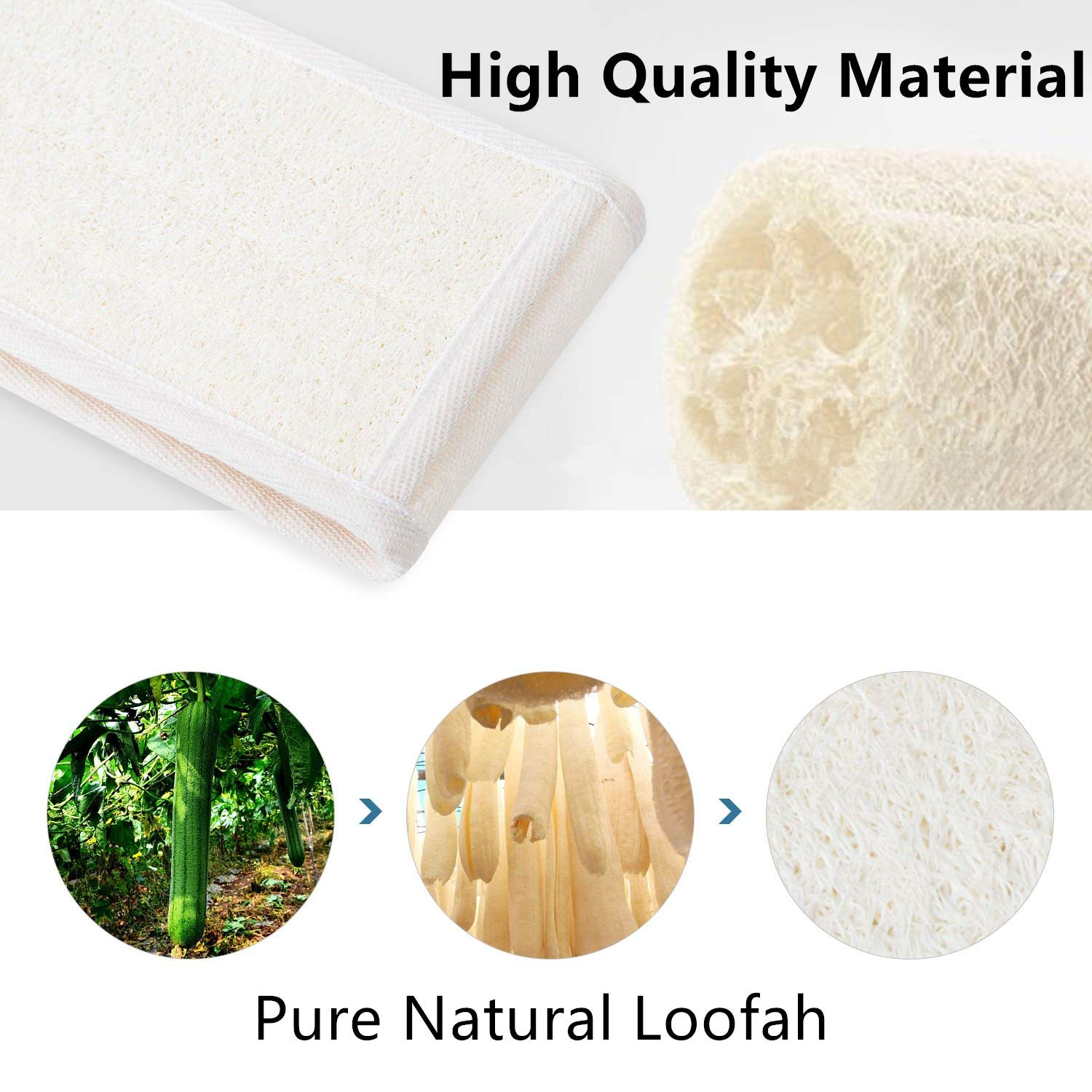 Pure Natural Loofah Back Scrubber for Shower, Deep Clean & Exfoliating, Invigorate Your Skin, Good for Health and Beauty