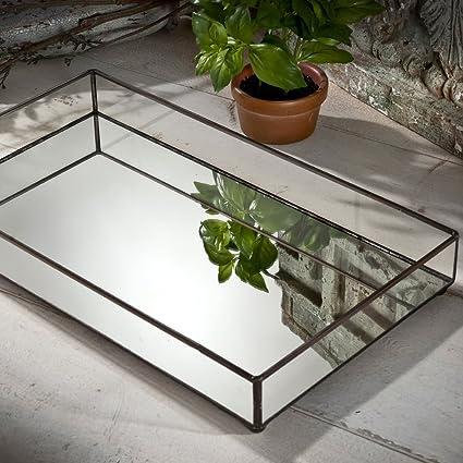 Amazoncom J Devlin TRA 109 Glass Jewelry Tray Mirror Bottom Vanity