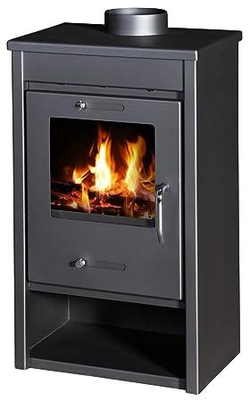 Estufa de leña, quemador de troncos moderno, estufa de leña, chimenea superior de 9/13 kW: Amazon.es: Bricolaje y herramientas