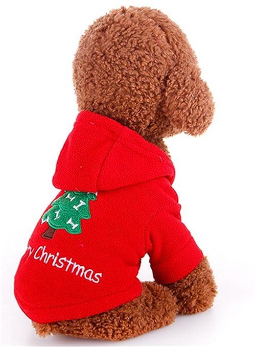 SHUNLIU Perro Sudadera con Capucha Ropa de Mascota de Navidad Perro Mascota Teddy ropa de Año