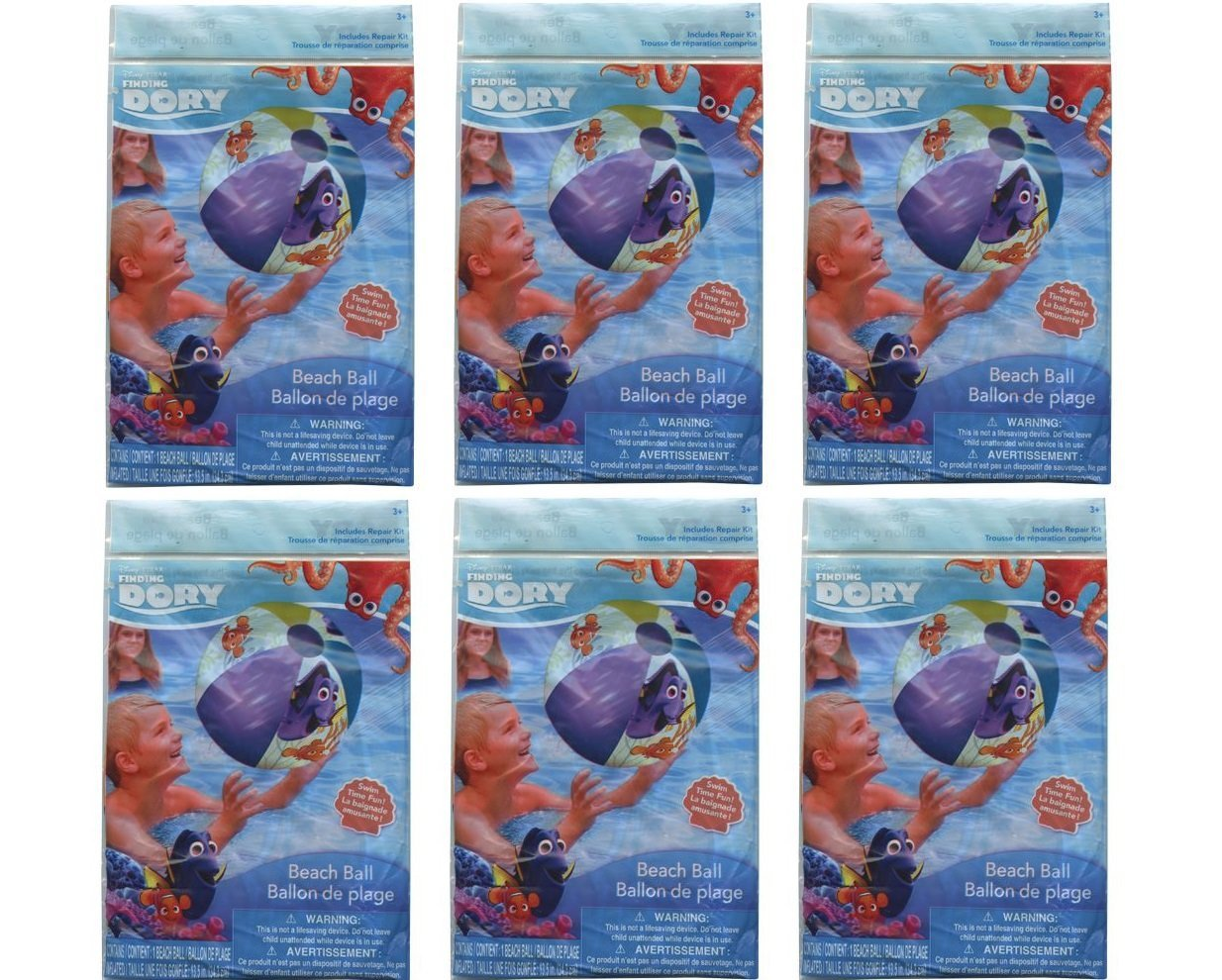 Finding Dory Inflatable 20 Beach Ball Party Favors Set-6 PACKS