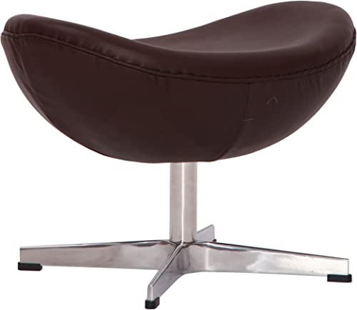 MLF Arne Jacobsen Egg Chair s Ottoman 4 Colors . Premium Aniline Leather Hand Sewing. 4 Star Satin Polished Aluminum Base. Strong Fiberglass Inner Shell for Firm Durability. Dark Brown