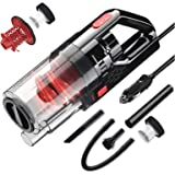 Car Vacuum Cleaner, SONRU 150W High Power DC12V Corded Handheld Vacuum for Car Interior Cleaning, Wet/Dry Use, Dual HEPA…