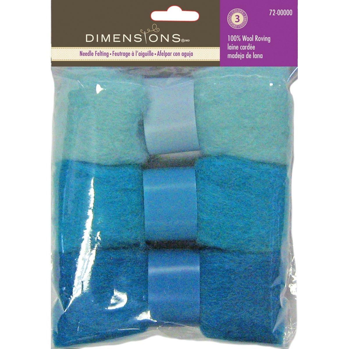 Dimensions Needlecraft 3-Pack Wool Roving, Orange Red EKS 72-73929