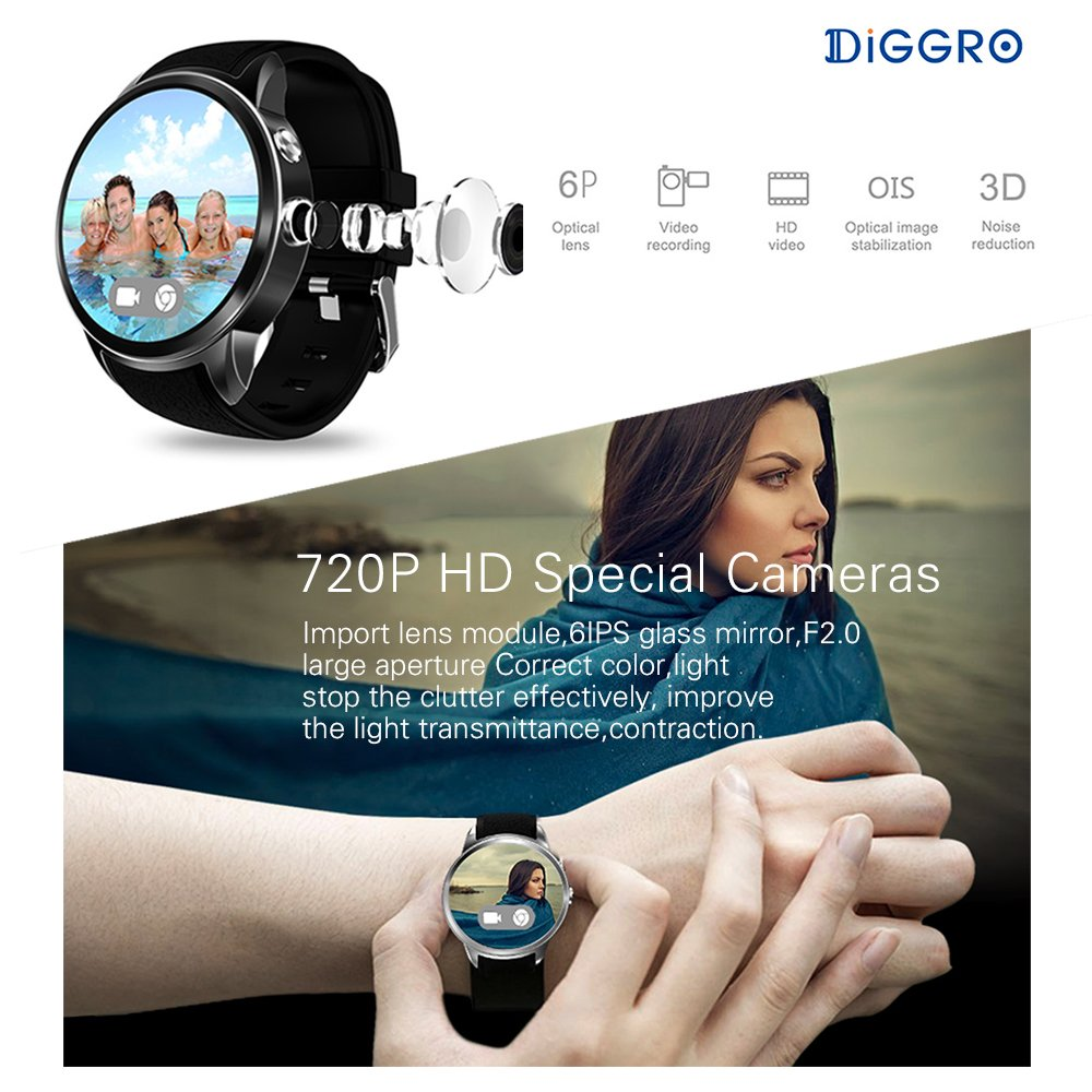 Diggro DI01 MTK6580 - Reloj inteligente Android 5.1 de 1 GB ...